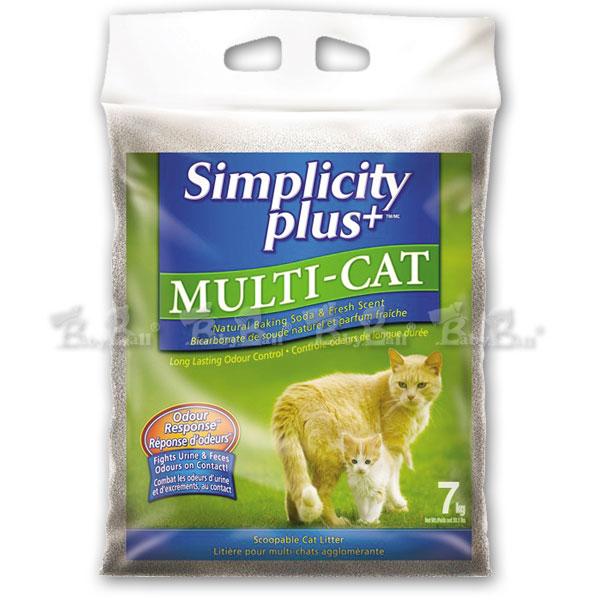 【喜樂加強版凝結貓砂】7kg / 多貓家庭專用(Simplicity Plus+)