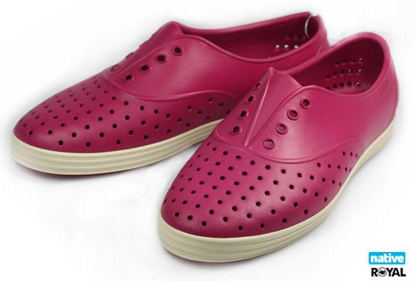 Native 新竹皇家 JERICHO 莓果紅 輕量 懶人鞋 女款  NO.I6890
