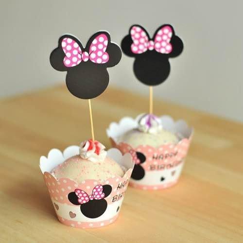 =優生活=烘焙包裝紙杯蛋糕 蛋糕裝飾 插牌圍邊+插牌裝飾 派對用品 兒童生日 彌月蛋糕 收綖蛋糕【米妮頭】