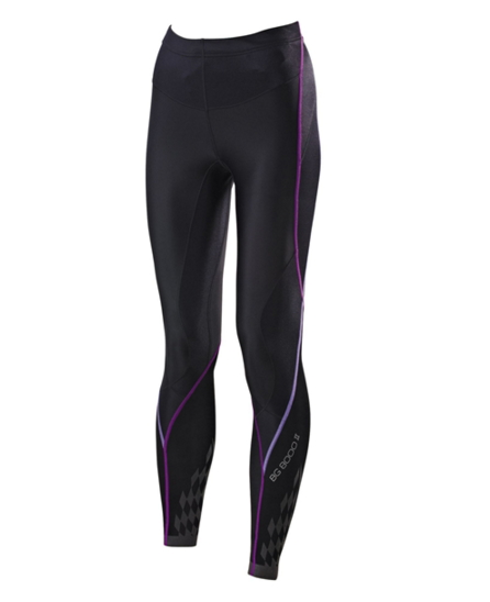 [陽光樂活] MIZUNO 美津濃 女款 BG8000 II 第二代 頂級機能壓縮緊身褲 K2MJ5D0197 黑x紫