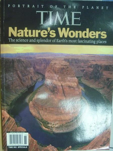 【書寶二手書T4/雜誌期刊_YHH】TIME_Nature's Wonders