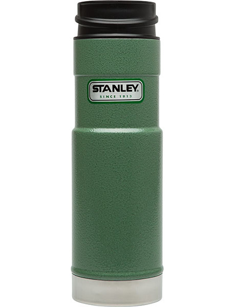 Stanley 咖啡保溫杯/經典單手杯/美式復古軍用不鏽鋼保溫水壺 0.59L 錘紋綠 01568