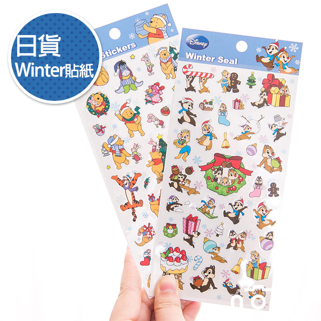 NORNS 【日貨Winter貼紙】奇奇蒂蒂 小熊維尼 迪士尼 手帳 行事曆 拍立得照片