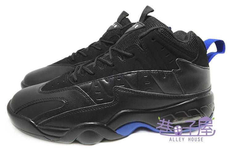 【巷子屋】FASHION 男款黑武士高統氣墊籃球鞋 [H30] 黑藍 超值價$690
