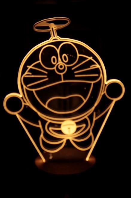 LED 造型 3D立體燈 多拉A夢造型 木質底座  小夜燈 氣氛燈 造型燈 USB 生日禮物 聖誕禮物