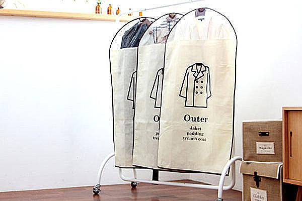 BO雜貨【SV2315】韓國棉麻衣物防塵罩 大衣外套收納 防塵 衣物收納 防塵袋 (大號3件組)