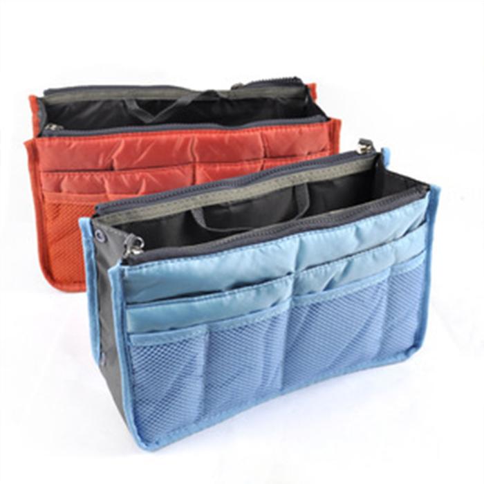 【酷創意】韓流新款  批發供應 雙拉鍊包中包/收納包/化妝包/內膽包(E13)