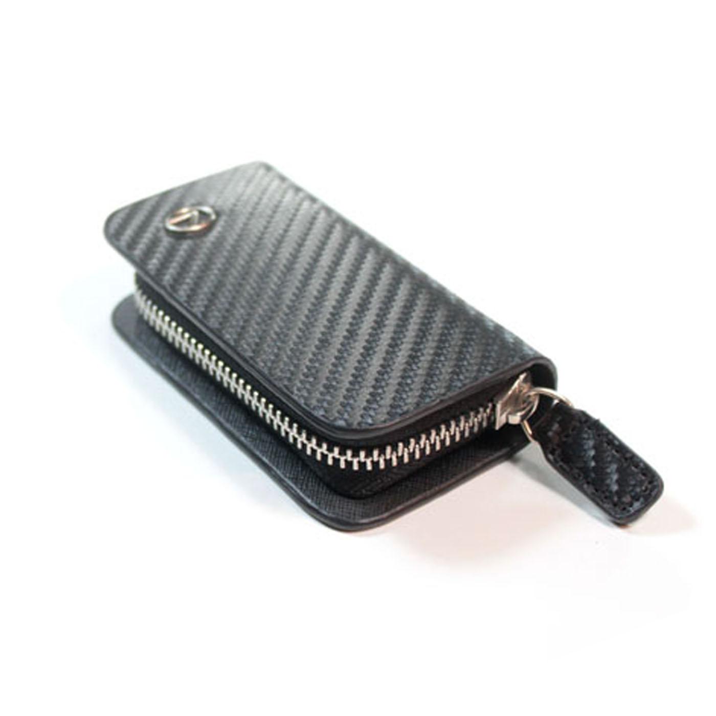 Lexus 凌志 真牛皮 尊爵系列遙控皮套 黑色汽車鑰匙包款 車鑰匙扣 零錢包