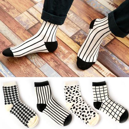 幾何圖形短襪 襪子 百搭 男女適用 【B061243】