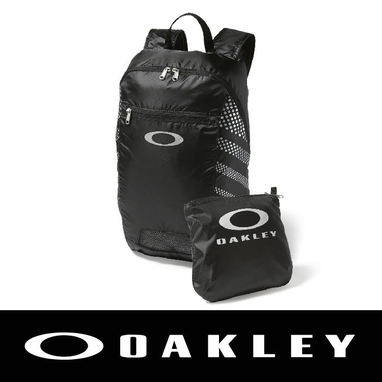 萬特戶外運動OAKLEY SP15 PACKBALE BACKPACK JET 輕亮後背包 防潑水 黑色 OAK-92732-01K