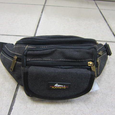 ~雪黛屋~A.Antonio 帆布腰包 隨身包 工作 運動休閒 旅遊重要品 防水刷洗#809