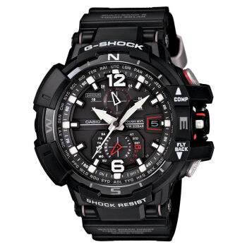 國外代購 CASIO G-SHOCK GW-A1100-1A 飛行表 雙顯 運動防水手錶腕錶電子錶男女錶 黑