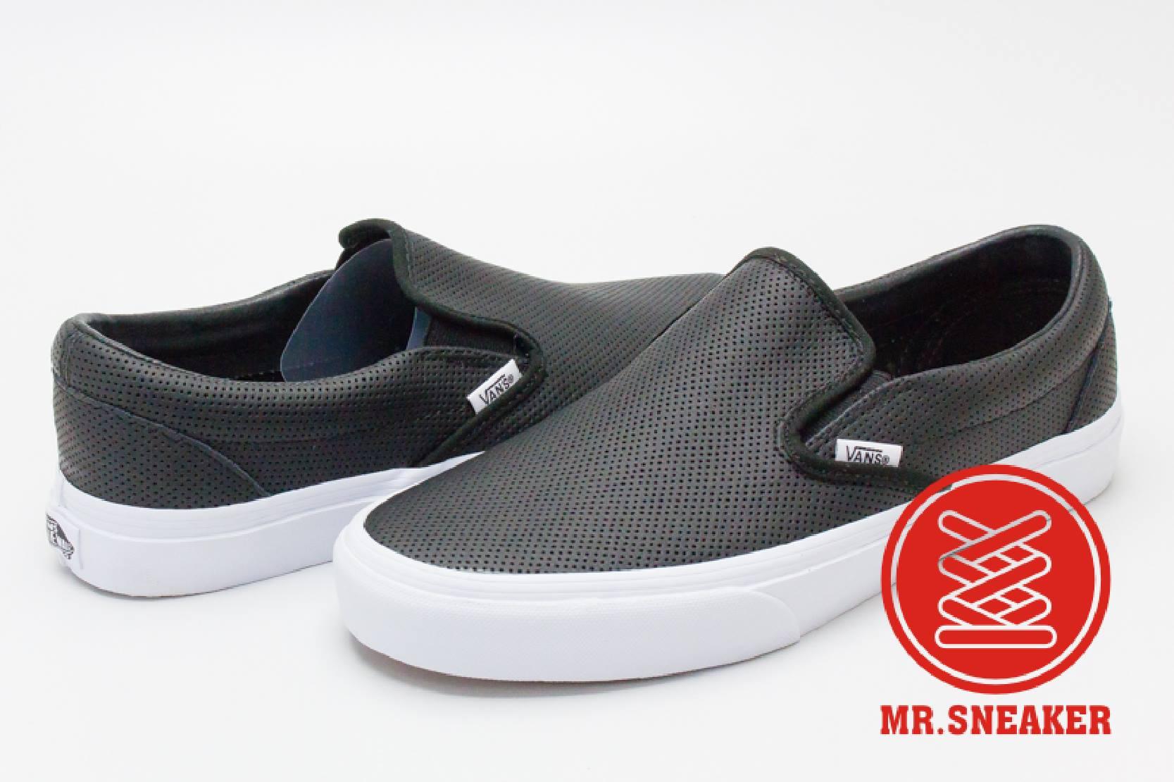 ☆Mr.Sneaker☆ VANS Slip On 網眼 洞洞 皮革 基本款 黑、白 兩色 男女款