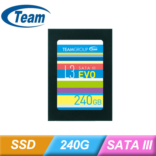 十銓 TEAM L3 EVO 240G SSD 2.5 SATA3 TLC 7MM