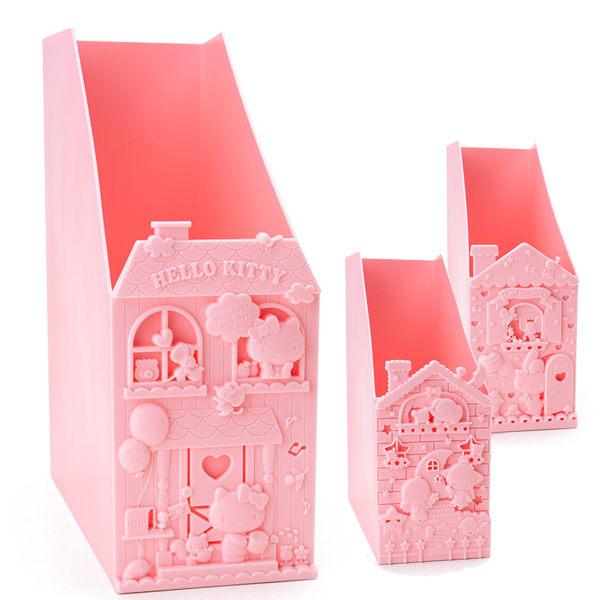 KITTY美樂蒂雙子星立體雜誌收納箱置物箱公文箱文件架粉色三款207536海渡