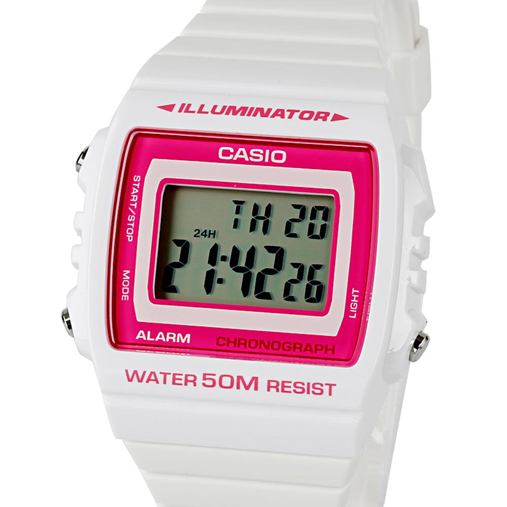 CASIO 卡西歐 W-215H 繽紛個性亮彩LED多功能防水電子錶