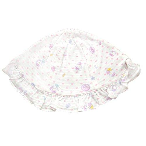 【真愛日本】14070200003 KT印花嬰兒帽-滿版愛心 三麗鷗 Hello Kitty 凱蒂貓 帽子 嬰兒用品