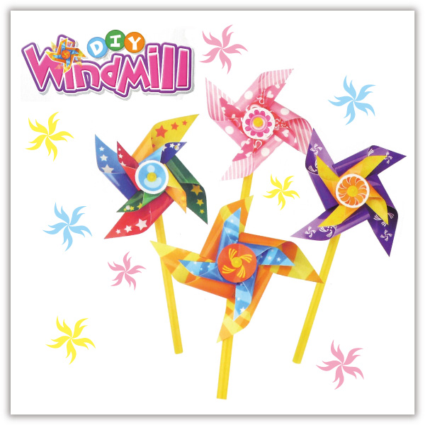 【aife life】DIY雙層風車/可組4個風車/風車DIY材料包/兒童勞作/美勞教材/創意/手工/贈品禮品