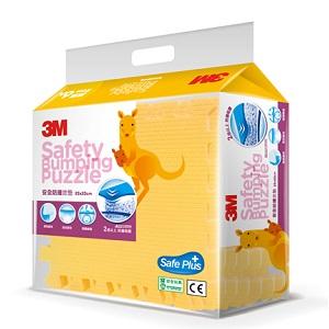 【淘氣寶寶】3M 安全防撞拼貼地墊 (32x32cmx6片) 黃色
