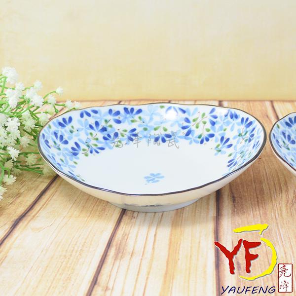 ★堯峰陶瓷★餐桌系列 日本美濃燒 6.25吋 芽 橢圓盤 餐盤