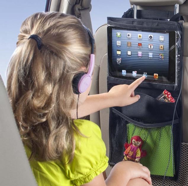 《任意門》  【BG302】汽車椅背置物袋/I-PAD車用置物袋~平板電腦專用袋