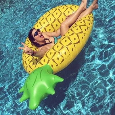 游泳圈成人救生圈-獨特創意可愛鳳梨水上活動坐騎浮板2款73ez3【獨家進口】【米蘭精品】