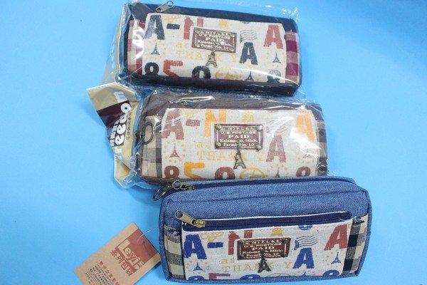 樂伊拉鍊筆袋 LE-2829 巴黎鐵塔筆袋 文具收納袋 文具袋 收納袋/一個入{促99}