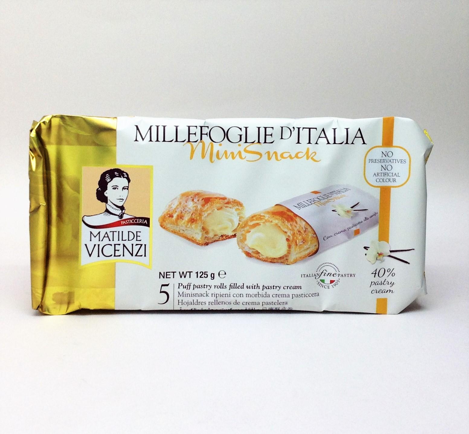 義大利維西尼Mini千層酥-卡士達奶油夾心-125g