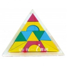 ★衛立兒生活館★世一 創意幾何拼圖積木-14片