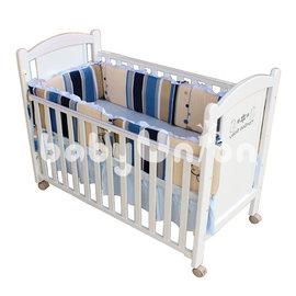 Mam Bab夢貝比 - 糖果純棉嬰兒床加高單護圈 -L (68x120cm大床適用)