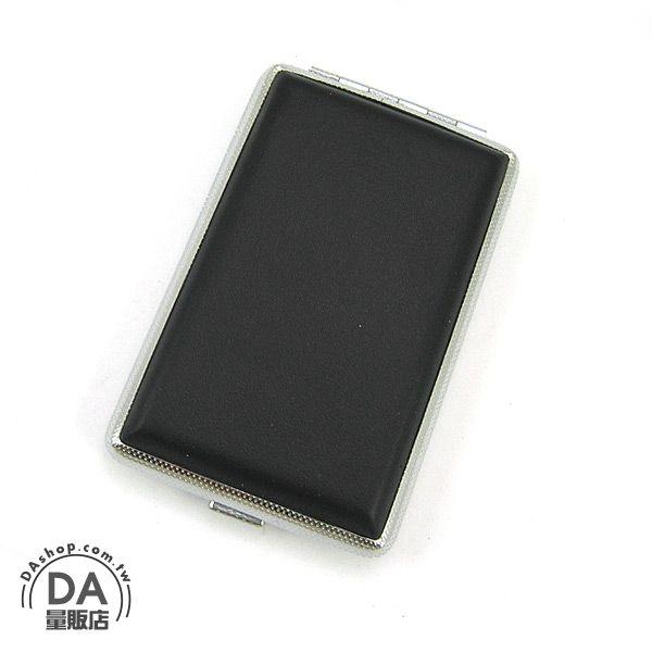 《DA量販店A》時尚 個人隨身攜帶用配件 黑皮革 高品質 菸盒/香煙盒 (37-219)