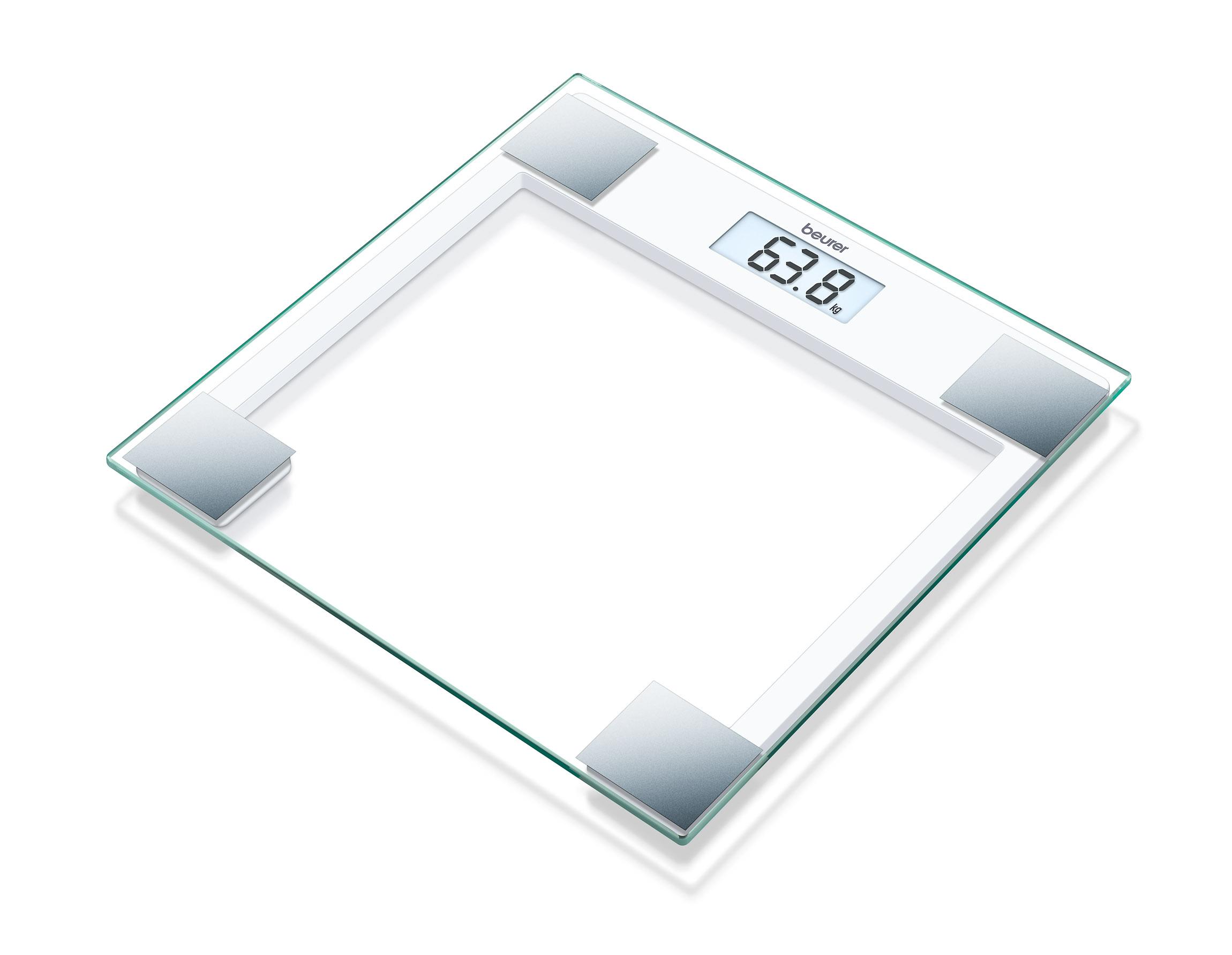 【德國博依beurer】典雅方框玻璃體重計GS14