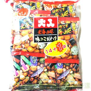 *即期促銷價*日本進口北海之味14+1袋綜合豆果子 大包裝 [JP063]