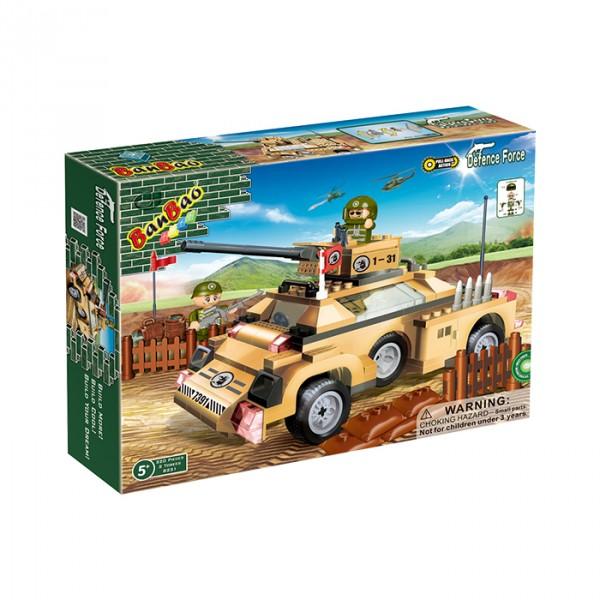 【BanBao 積木】戰爭系列-裝甲車 8231  (樂高通用) (單筆訂單購買再加送積木拆解器一個)