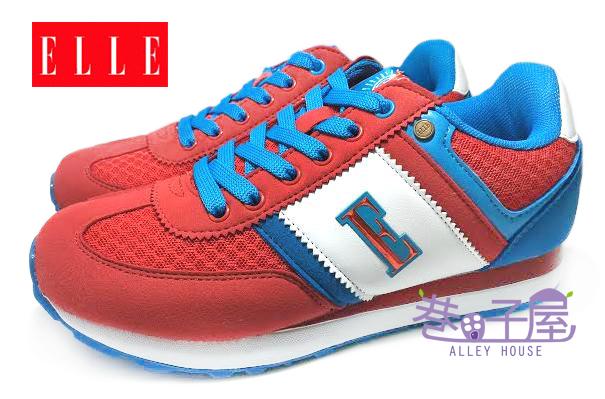 【巷子屋】ELLE 女款經典色輕量復古運動慢跑鞋 [50072] 紅 超值價$498