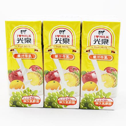 【敵富朗超巿】光泉果汁保久乳(200mlX6入)