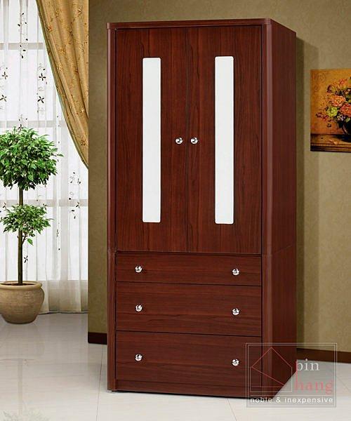【尚品傢俱】 ※自運價※ Q-GF-G02 溫莎胡桃3x7尺房間收納櫃男櫃三抽衣櫃衣櫥