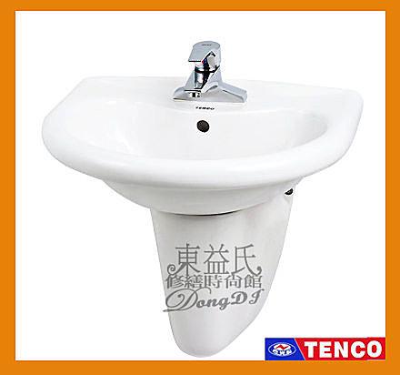 【東益氏】TENCO電光牌SLC1454-R2省水洗臉盆《面盆+單槍龍頭》另售 TENCO電光牌 和成 凱撒 溫水洗淨馬桶座 TOTO 免治馬桶座