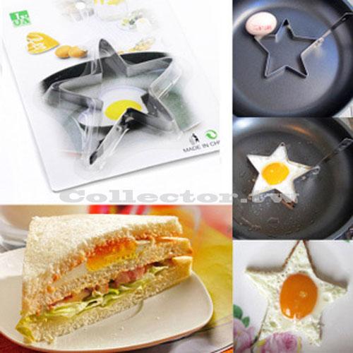 【N14122901】不銹鋼五角星形煎蛋器 星星煎蛋器 煎蛋模具
