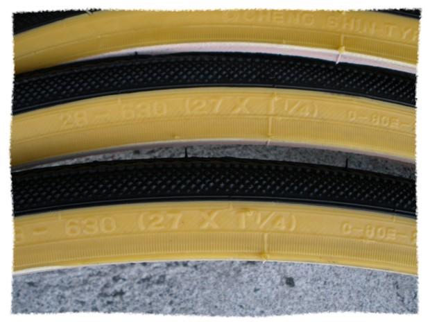 正新 27X1 1/4 黃邊外胎《意生自行車》