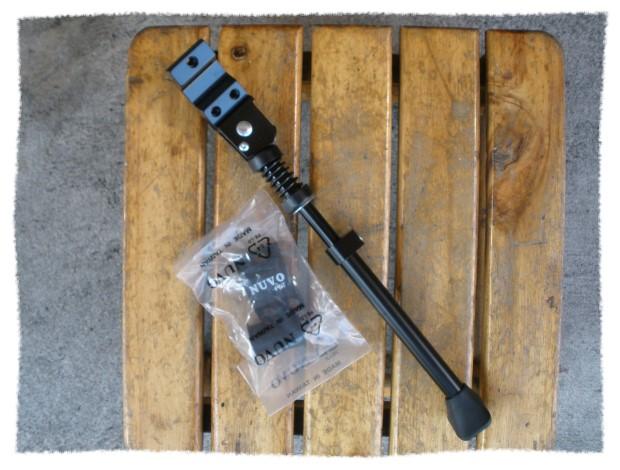 NUVO 20吋-28吋 可調式鋁合金側腳架 (黑色)《意生自行車》