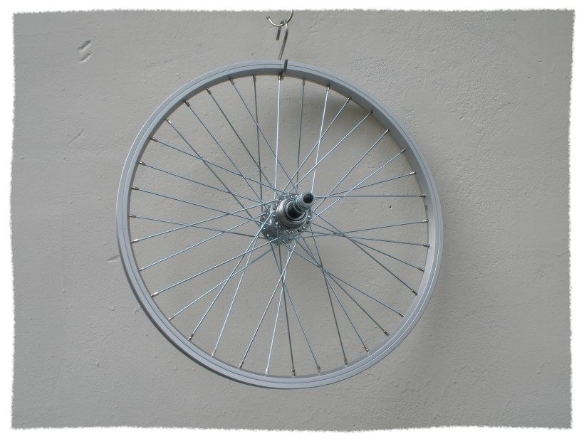 全新20吋單層鋁圈+鍍鋅鋼絲+鎖牙式花鼓(後輪)《意生自行車》