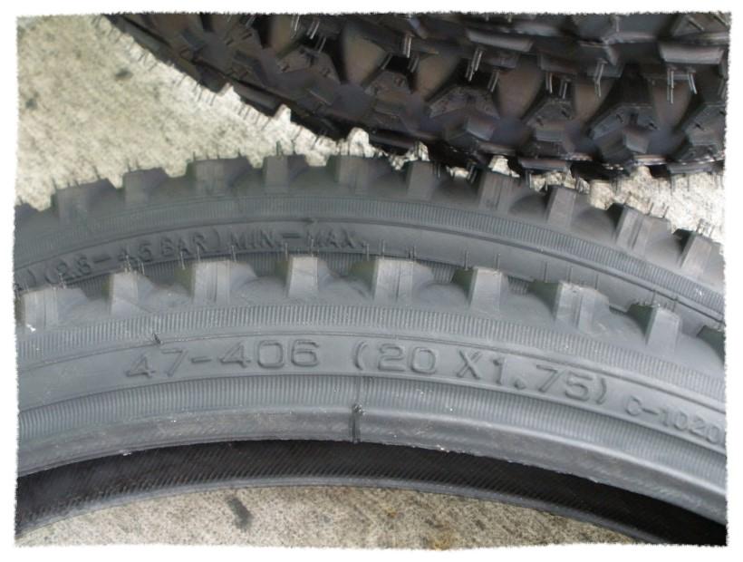 正新輪胎20 x 1.75 粗紋《意生自行車》