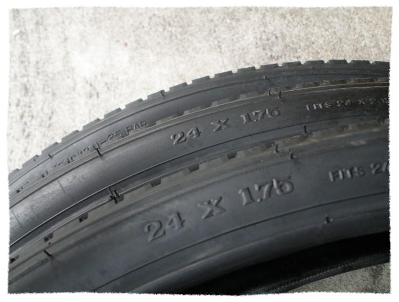 正新輪胎24 x 1.75 細紋《意生自行車》