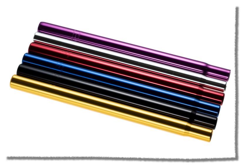 鋁合金 座管25.4mm 適合使用 / 長35cm / 藍色 《意生自行車》