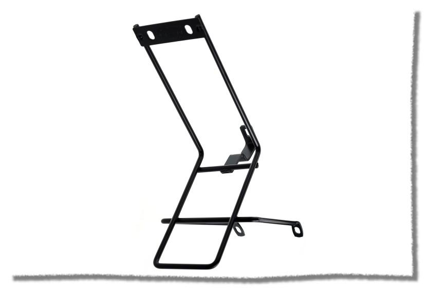 【意生】高級鋼鐵無夾款 前置物架/前貨架/前菜籃架/前固定架 鎖V煞孔與前叉肩蓋處