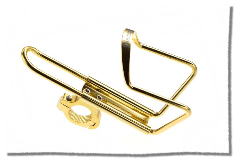 鋁合金水壺架-車把車架兩用款   金色《意生自行車》
