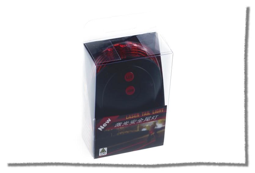 平行雙紅外線雷射警示燈 激光自行車尾燈《意生自行車》