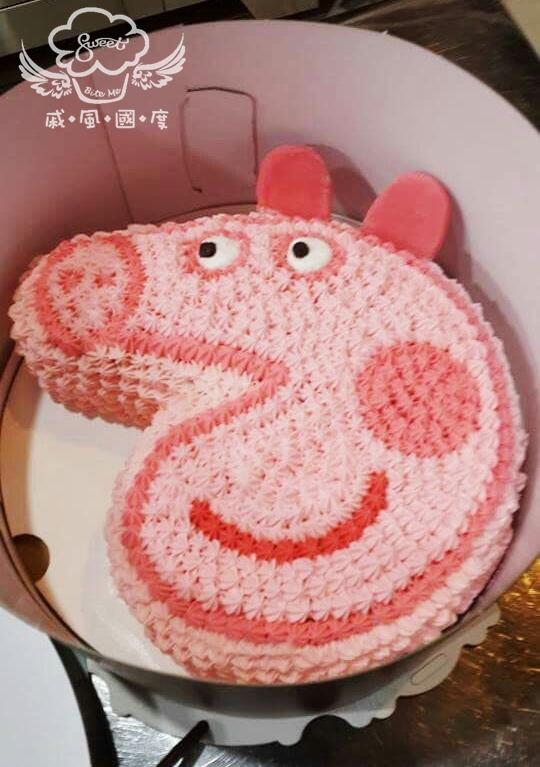 【戚風國度bite me-造型蛋糕】粉紅豬小妹佩佩豬~立體造型蛋糕~8吋、10吋生日蛋糕~可選擇巧克力蛋糕體或香草蛋糕體~
