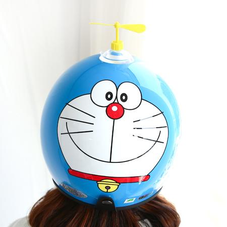 正版多啦A夢全罩安全帽 附竹蜻蜓 小叮噹 機車安全帽 四分之三 騎士帽 台灣製 亮面 K-805【N201433】